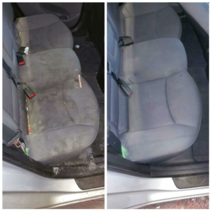 rear seat steam clean